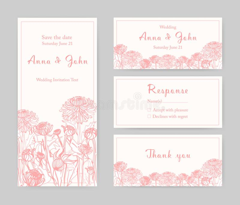 Collection Of Elegant Templates For Flyer, Save The Date Card Or ...