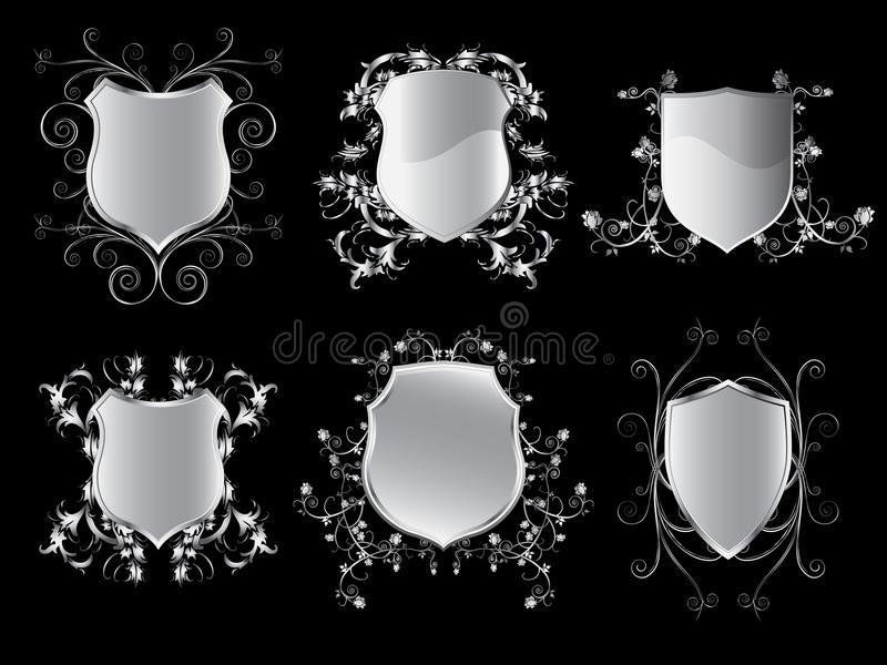 Collection of emblem shields. Vector illustration of emblem shields collection vector illustration