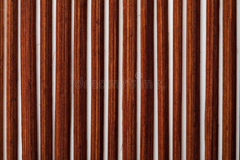 Collection en bambou rougeâtre foncée de texture de végétal et de fibres naturelles photographie stock libre de droits