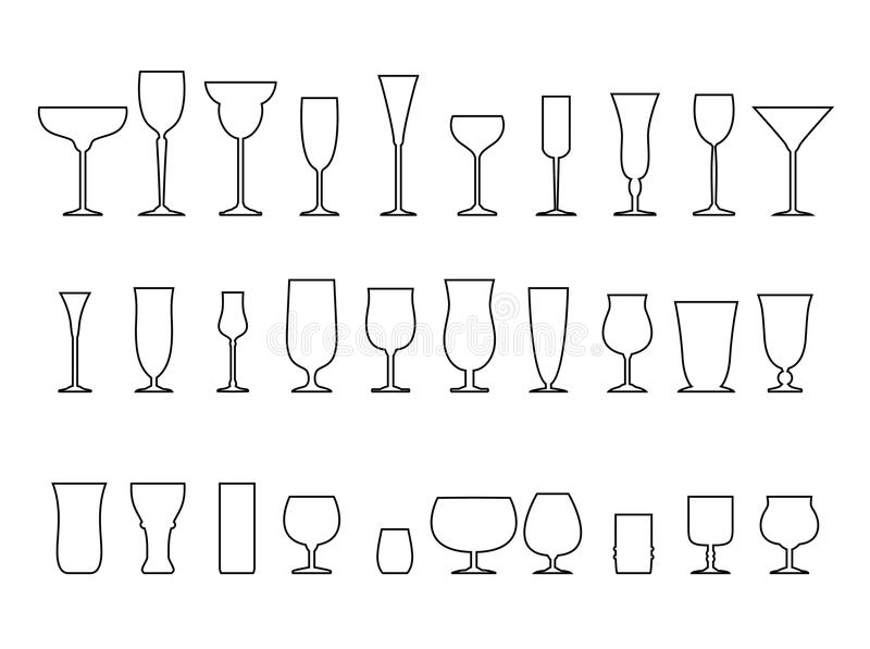 Collection en verre illustration stock