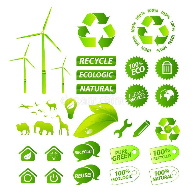 Collection environnementale de vecteur illustration stock