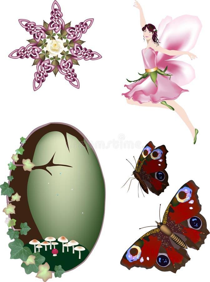 Collection féerique de vecteur illustration stock