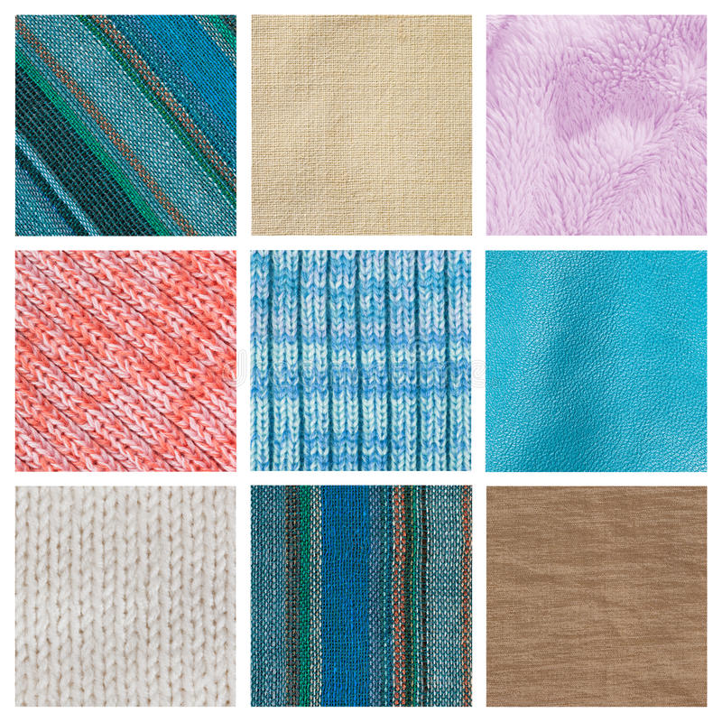 Download Collection Fabric Textured Background Stock Image - Image: 24399477