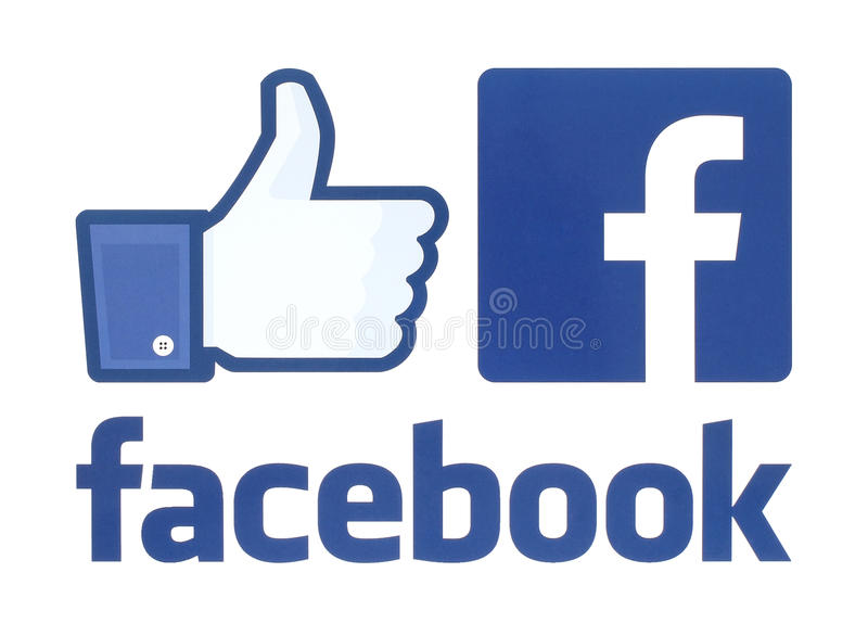 Collection of facebook logos royalty free stock photography