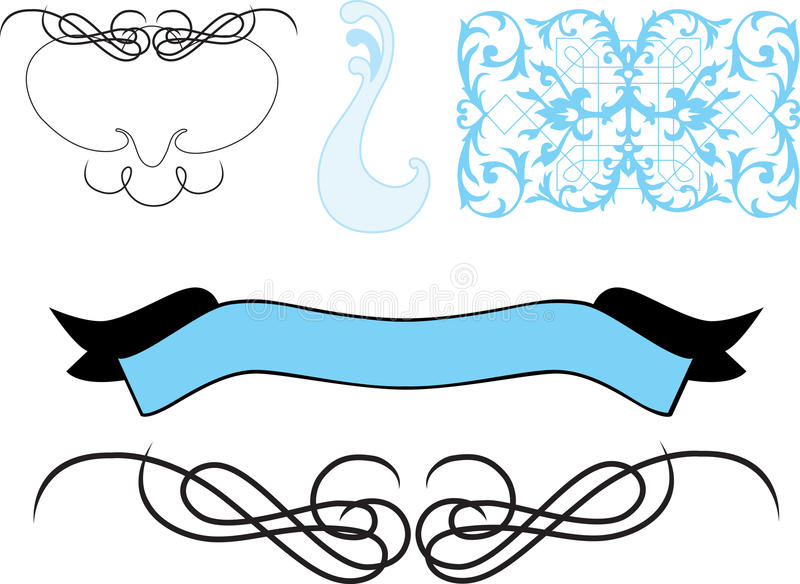 Download Collection Of Fancy Vector Designs Stock Photo - Image: 10467490