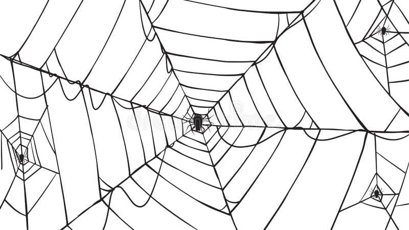 Collection fantasmagorique de silhouette de toile d'araignée d'isolant de vecteur de Halloween illustration libre de droits