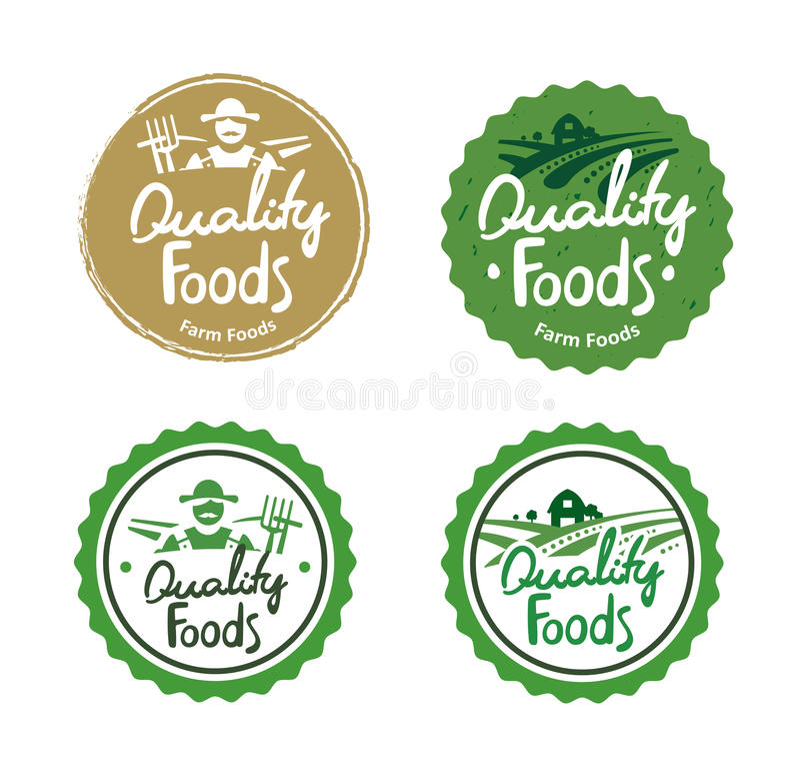Free Collection Farm Food Logos Royalty Free Stock Photo - 58655095