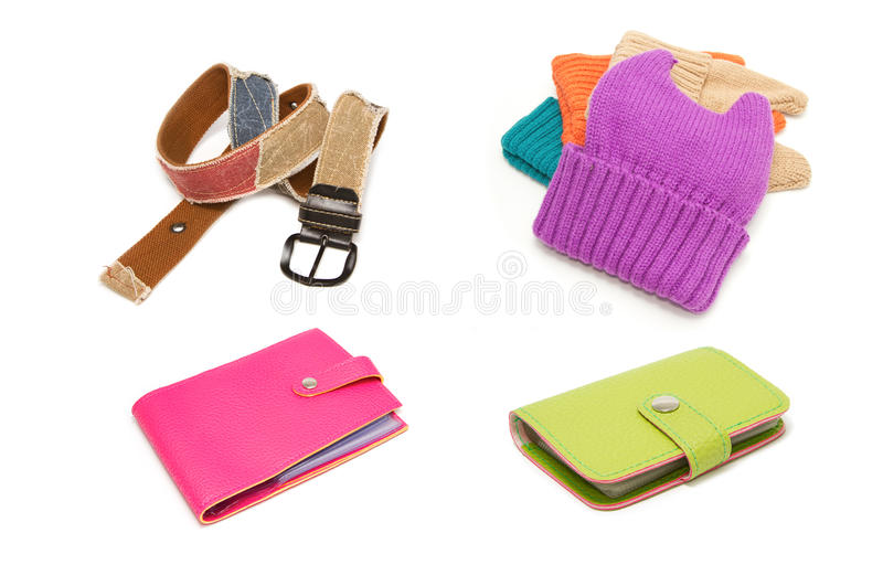 Collection of fashion accessory stock photos