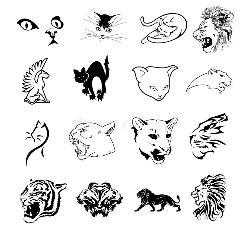 Download Collection Of Feline Symbols Royalty Free Stock Photos - Image: 13253968