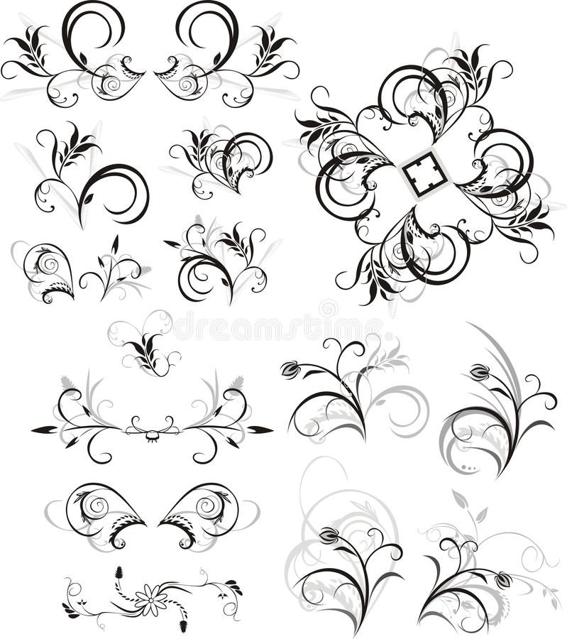 Download Collection Of Floral Ornaments Stock Vector - Illustration: 10337829
