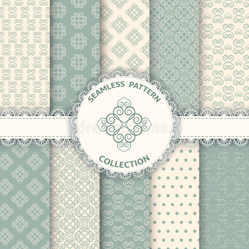 Collection floral pattern for scrapbook. stock illustration