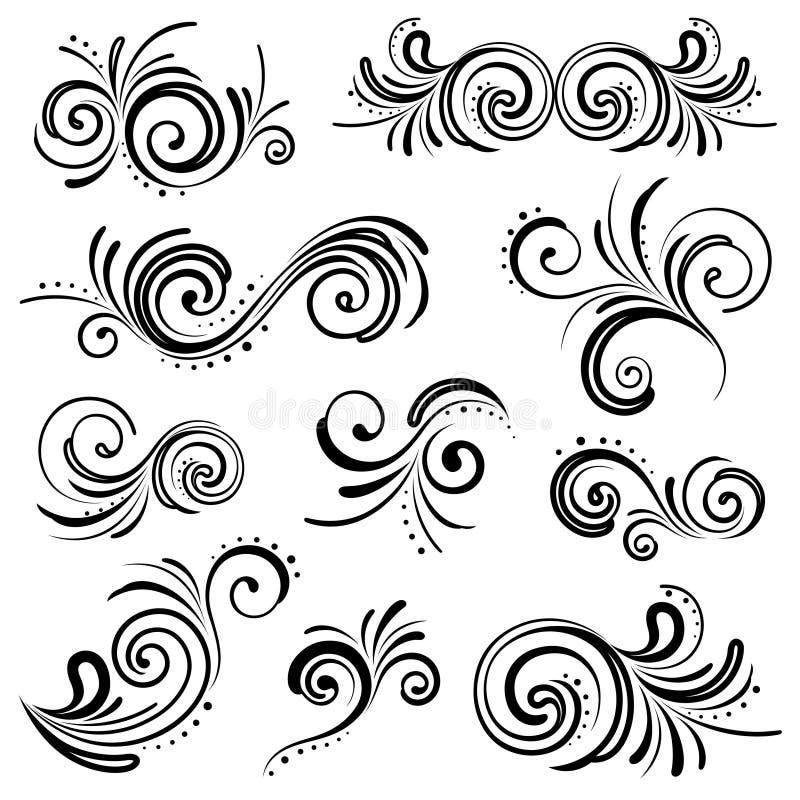 collection florale de décoration illustration de vecteur