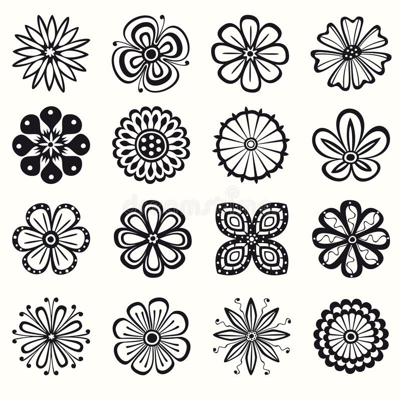 Download Collection of flowers stock vector. Image of psychedelic - 22684899