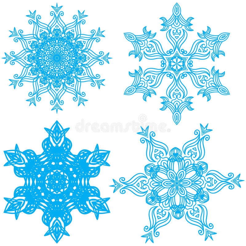 Download Collection Of Four Elegance Snowflakes Stock Vector - Image: 28656219