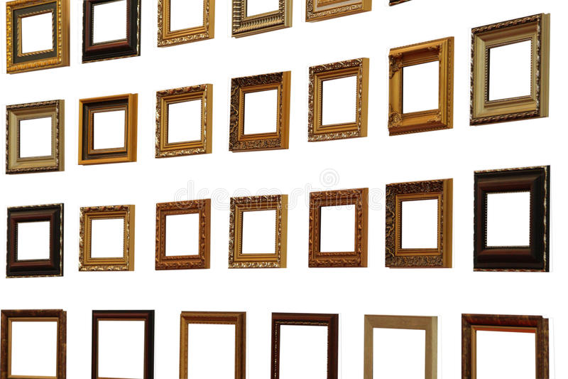 Collection of frames royalty free stock images
