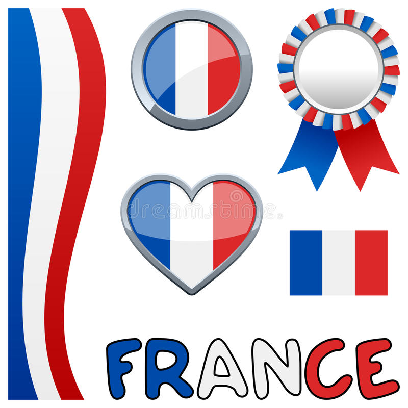 Download France French Patriotic Set Stock Vector - Illustration of national, objects: 30274467