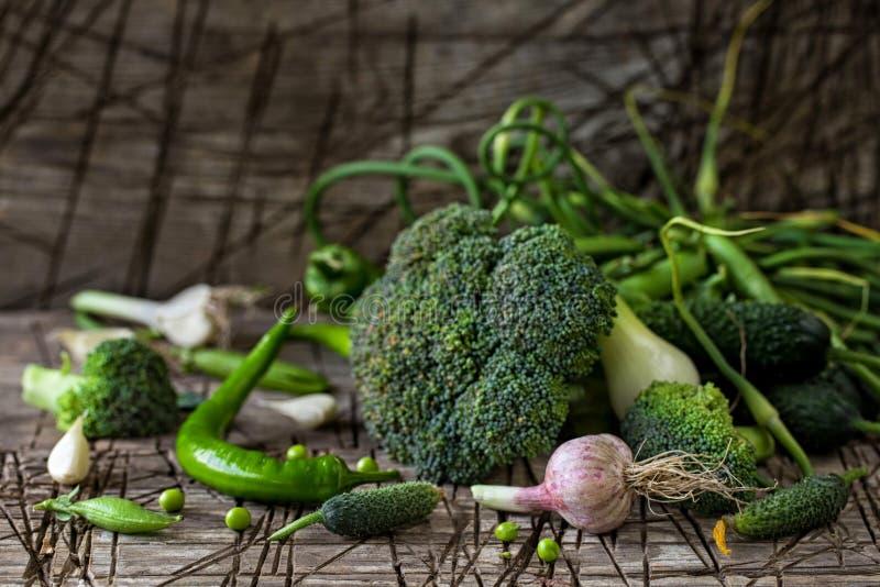 Fresh green vegetables stock photography