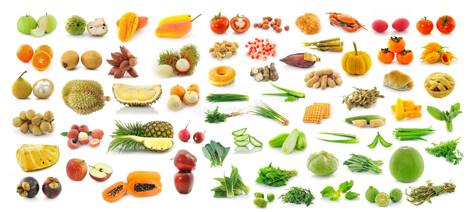 Collection of fruit and Vegetables. For healthy stock image
