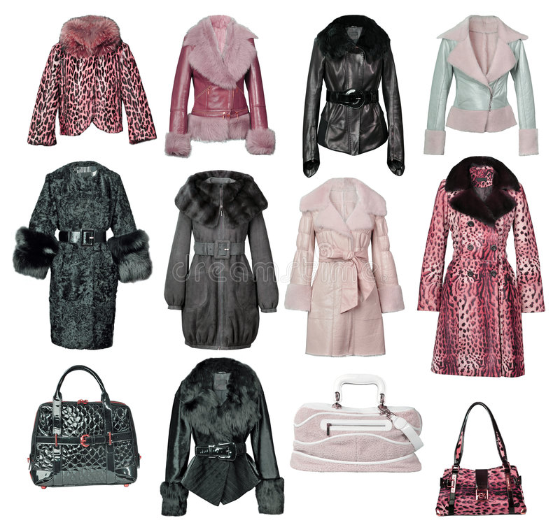 Download Collection Of Fur Coats Stock Photo - Image: 7905030