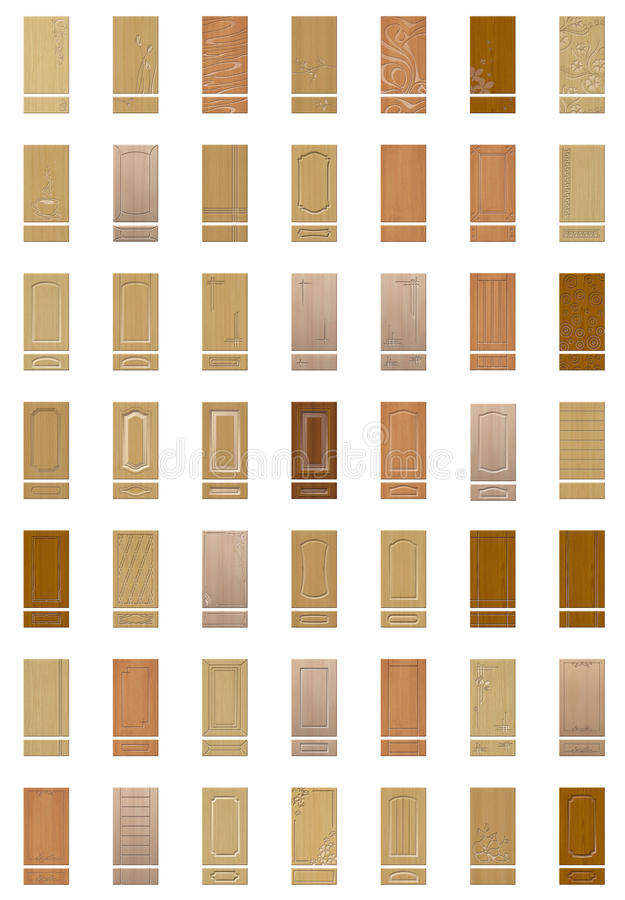 Collection of furniture fronts. Isolated vector illustration