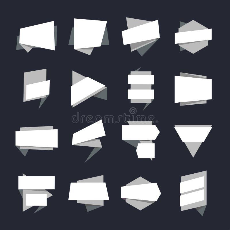 Collection géométrique abstraite de label de bannières Vecteur illustration stock