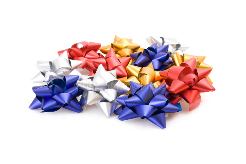 Download Collection of gift bows stock photo. Image of golden, decorative - 7193806