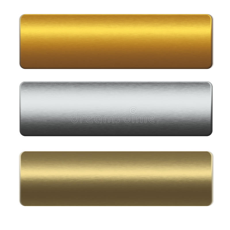 Collection of gold and siilver metal bars vector illustration