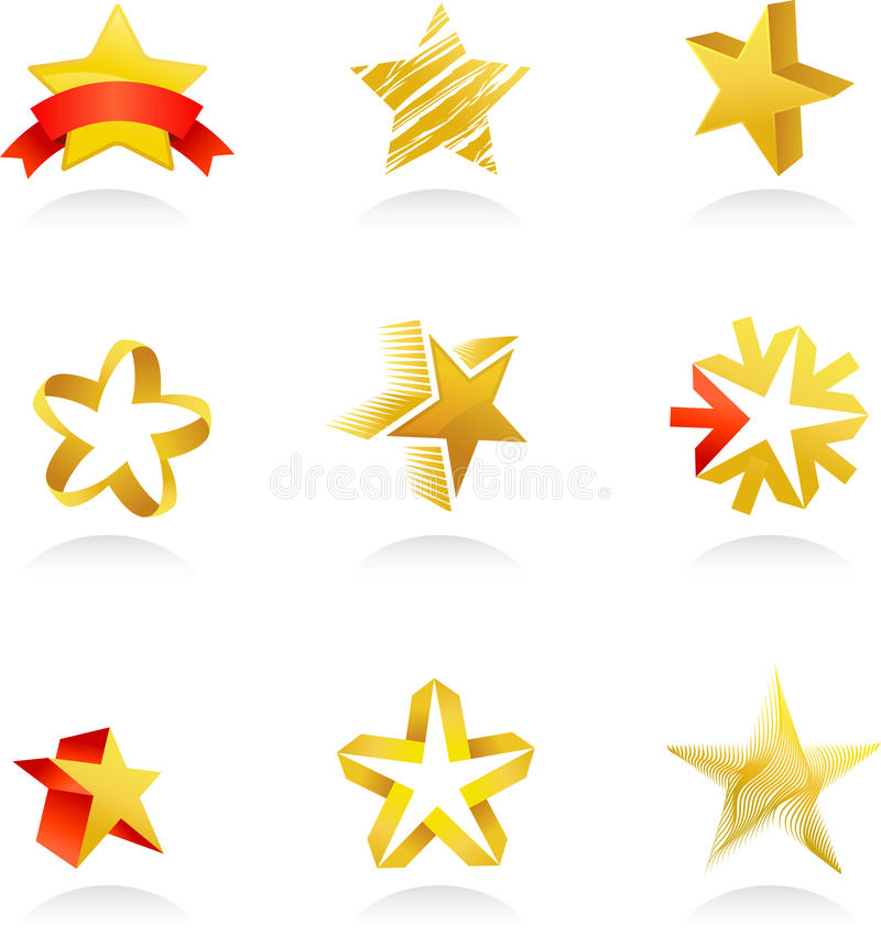 Download Collection Of Gold Star Icons, Vector Stock Image - Image: 24542441
