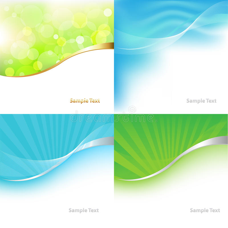 Collection Green And Blue Background. Vector vector illustration