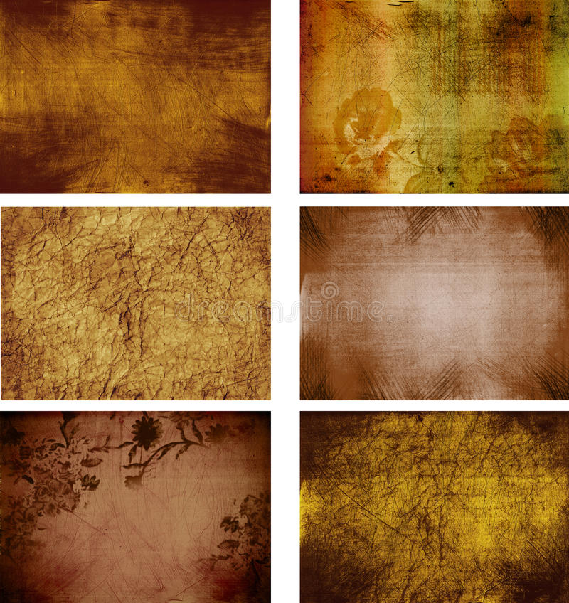 Collection of grunge background textures royalty free illustration