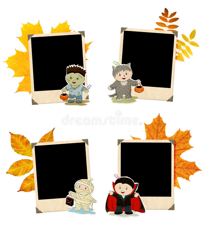 Download Collection Of Grunge Halloween Banners Stock Illustration - Illustration of banner, fall: 21102803