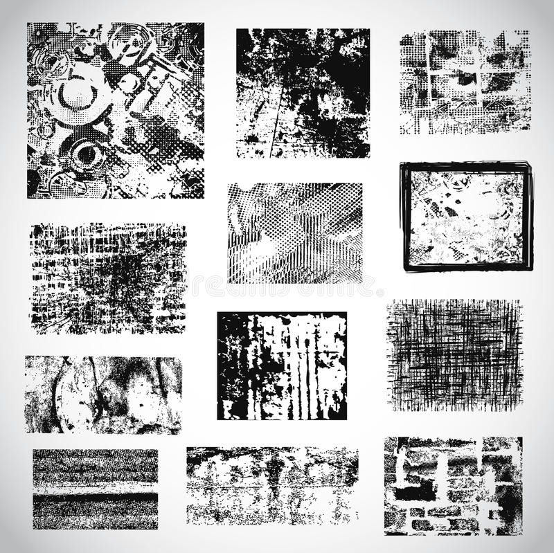 Download Collection Of Grunge Textures Vector Stock Vector - Image: 33724740