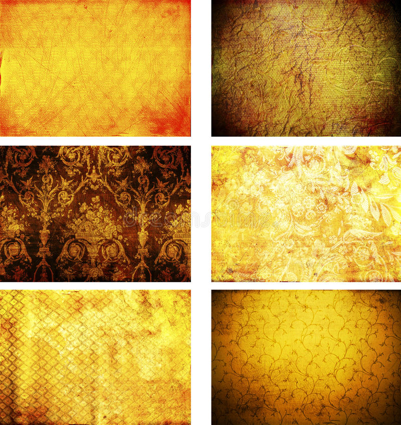 Collection of grunge vintage background textures vector illustration
