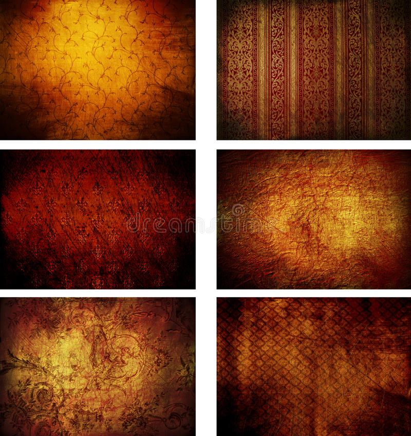 Collection of grunge vintage background textures royalty free illustration