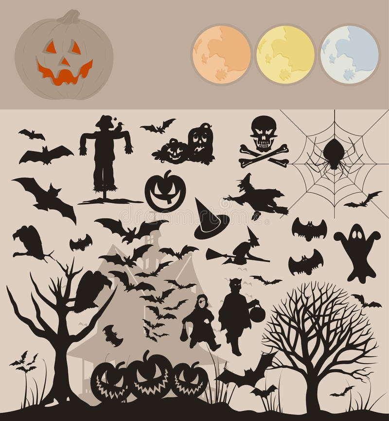 Download Collection Halloween stock vector. Illustration of fantastic - 21317050