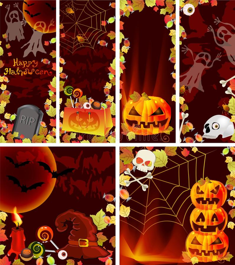 Download Collection Of Halloween Banners Stock Vector - Image: 26948437