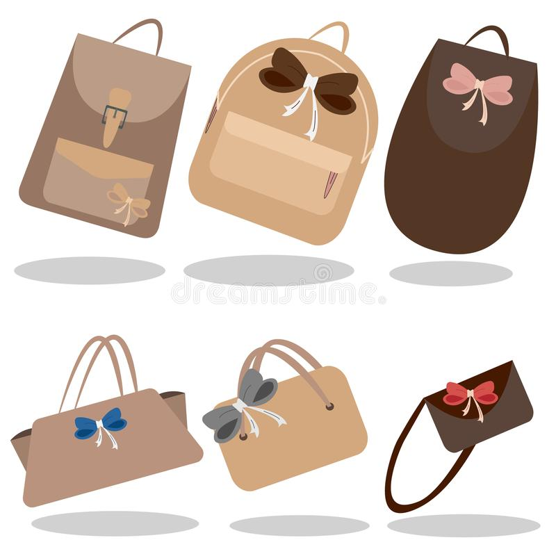 The collection of handbags stock photos