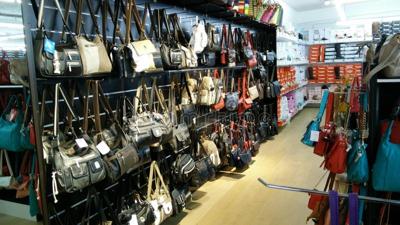 Collection handbags an purses royalty free stock photography