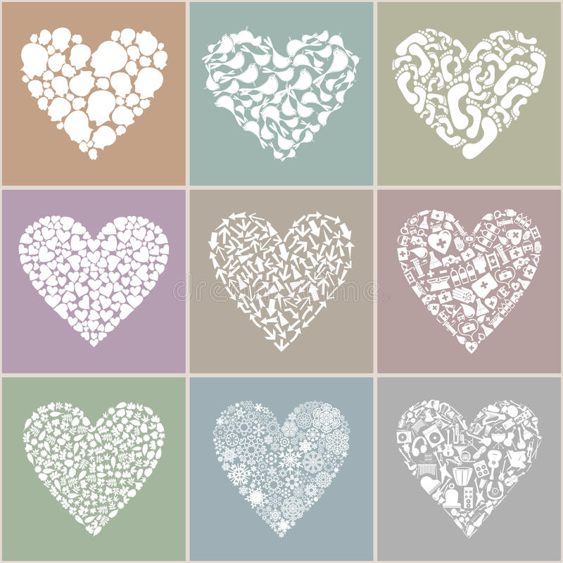 Collection heart stock illustration