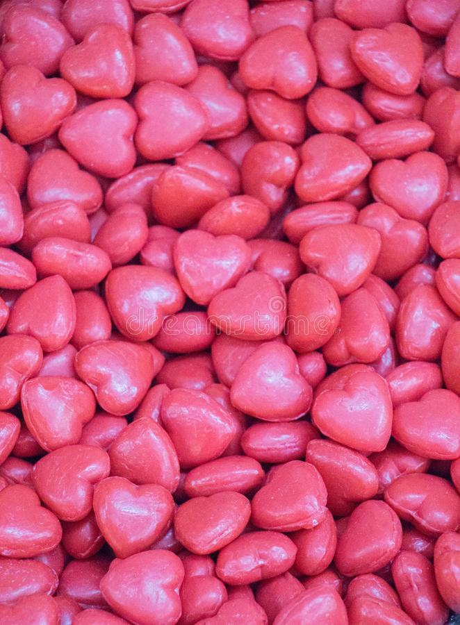 Collection of heart shaped colorful soap royalty free stock images