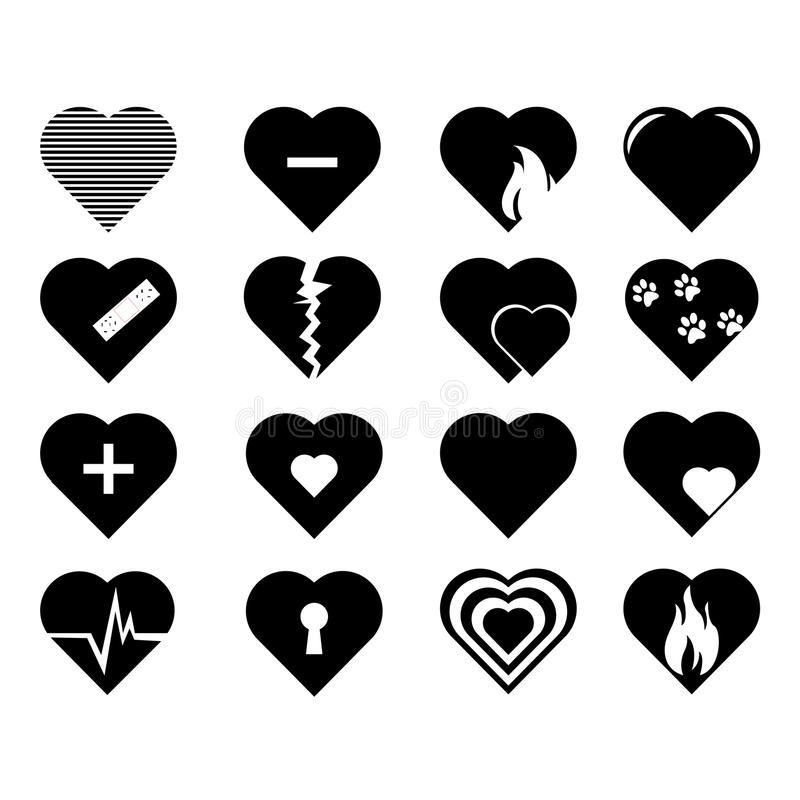 Collection of heart symbol.Vector hearts. Icons set vector illustration