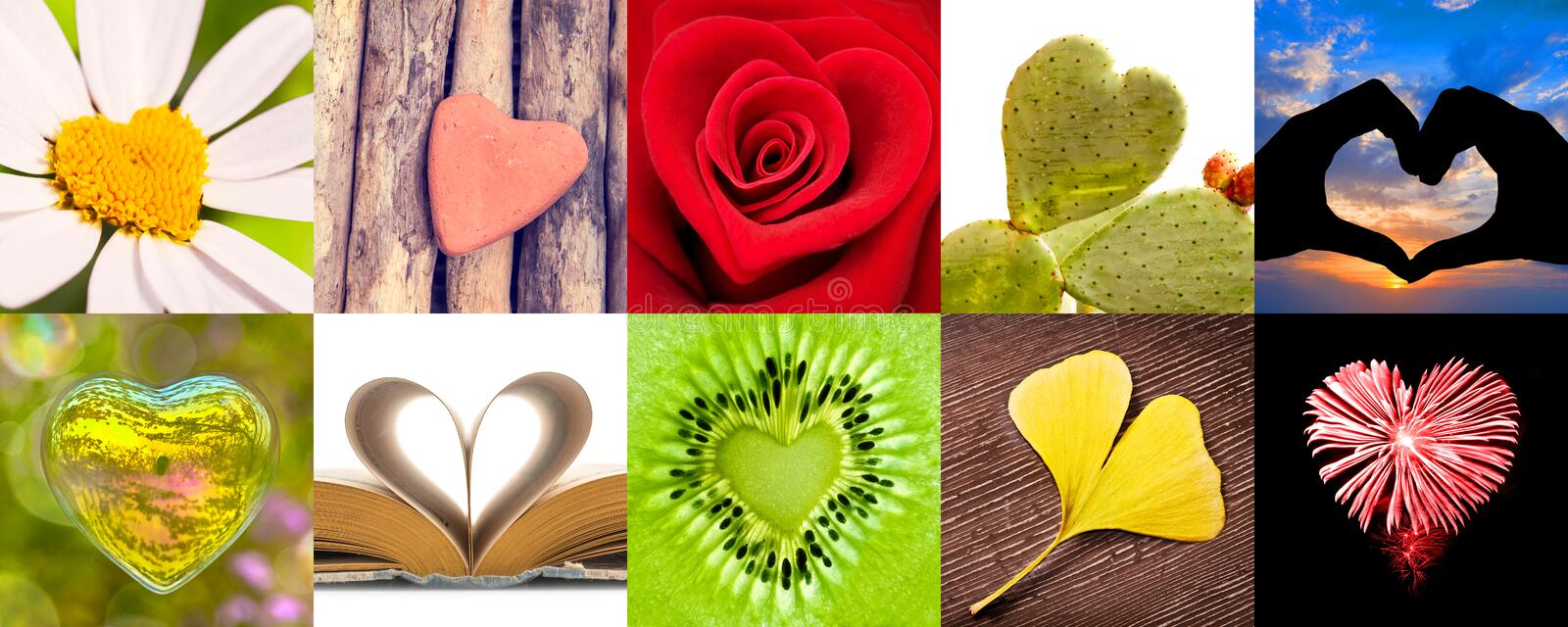 Collection of hearts, love valentines day concept stock photo