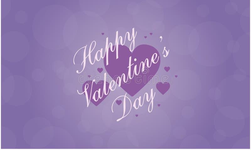 Collection heureuse de carte de voeux de Valentine Day illustration stock