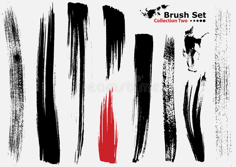 Download Collection Of Highly Detailed Vector Brushes - 2 Stock Vector - Image: 4232598