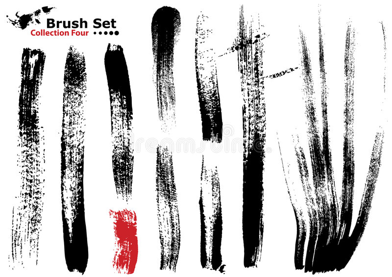 Download Collection Of Highly Detailed Vector Brushes - 4 Royalty Free Stock Photography - Image: 4232597