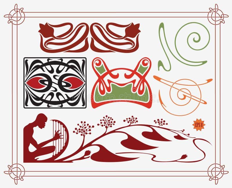 Collection historique de conception illustration stock