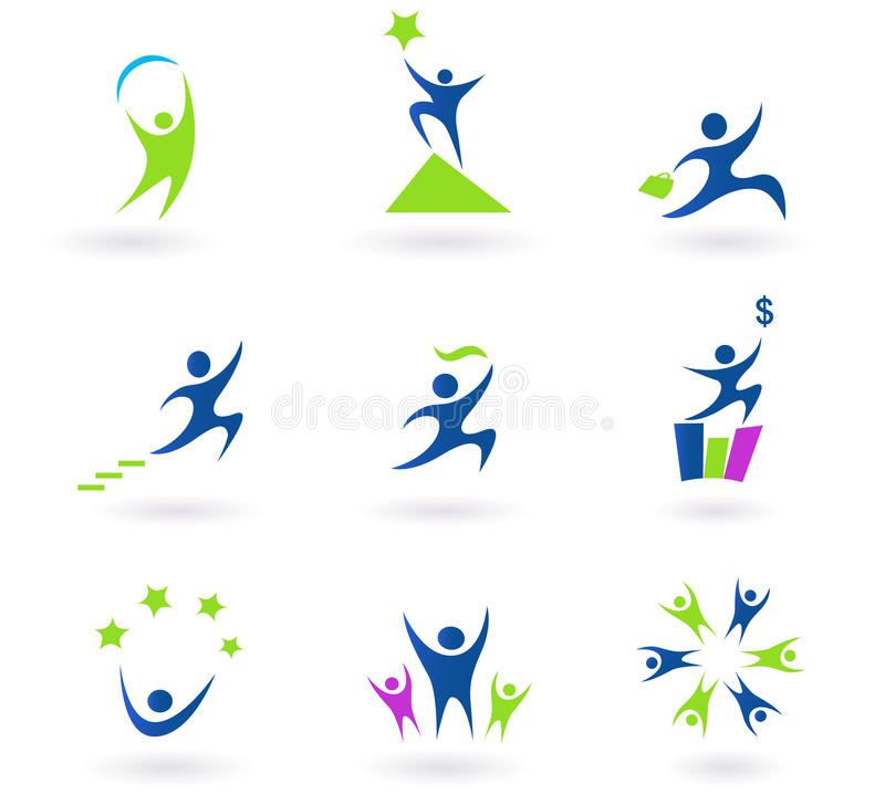 Collection Of Human Business And Success Icons Stock Photos