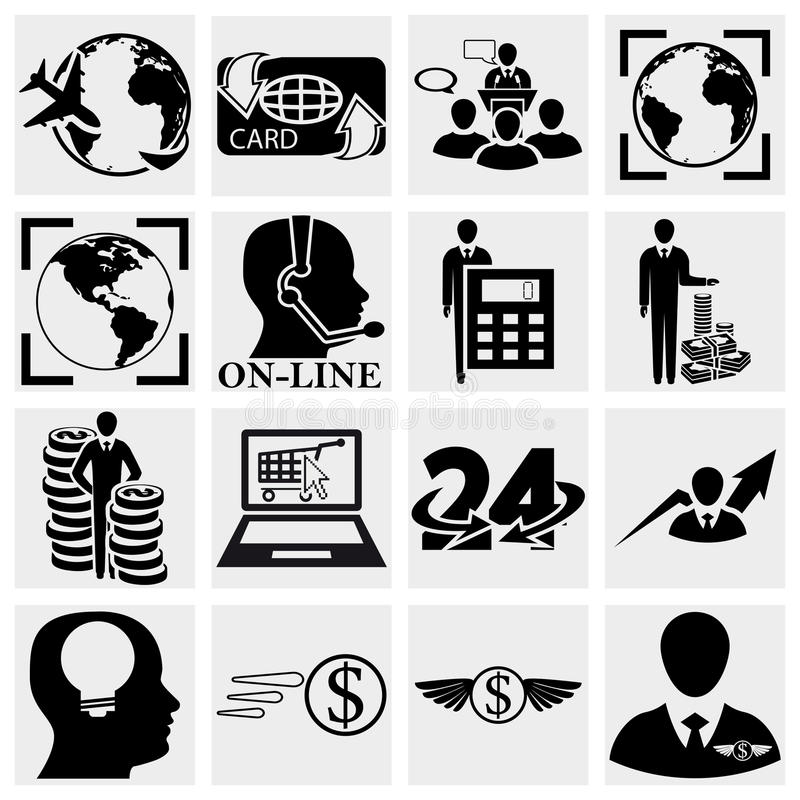 Download Human Resources, Management, Money Icons Set. Stock Vector - Image: 30110674