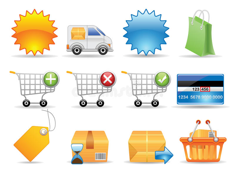 Collection icons royalty free illustration