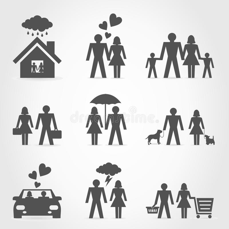 Download Icons a family6 stock vector. Image of love, pattern - 29984933